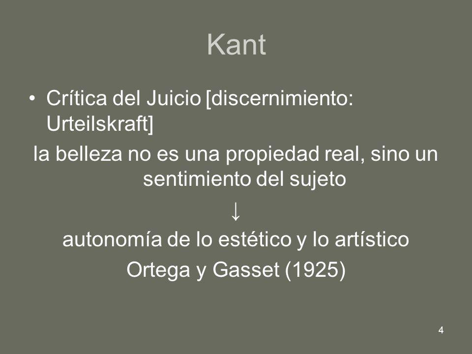 Kant Crítica del Juicio [discernimiento: Urteilskraft]